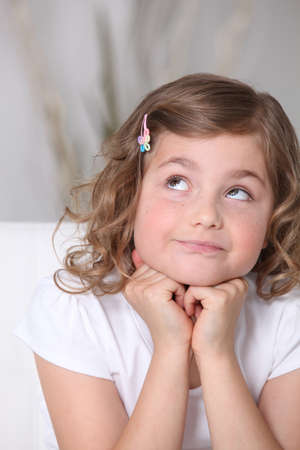 hairclip: Adorable little girl looking up