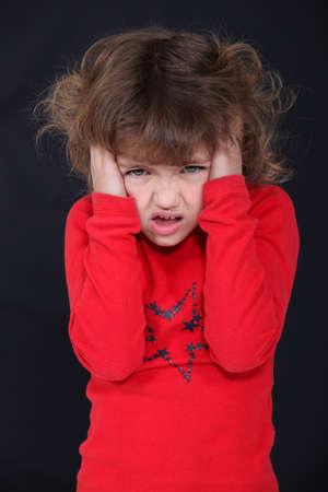 Angry little girl Stock Photo - 10854234