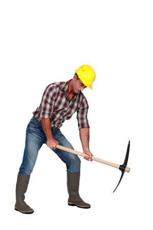 Man with a pickaxe Stock Photo - 10852036