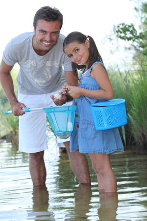 Father and daughter fishing Stock Photo - 10854542