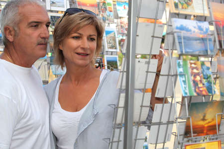 senior couple on vacation shopping Stock Photo - 10853104