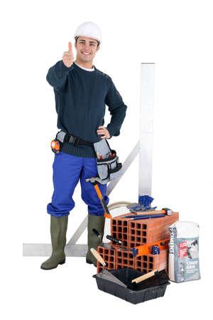 bricklayer: Retrato de un alba�il
