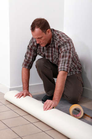 craftsman covering the floor photo