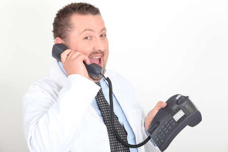 Portrait of a doctor on the phone Stock Photo - 10855167