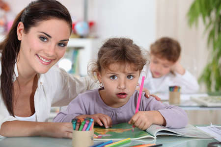 Teacher and her students Stock Photo - 10855252