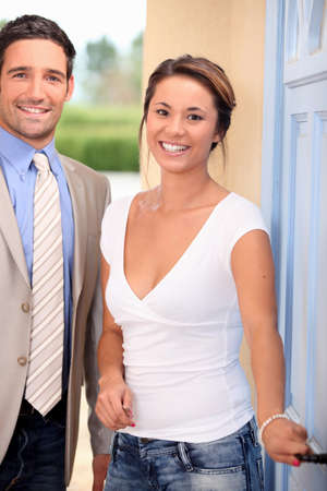 formal clothes: Couple about to go on a date Stock Photo