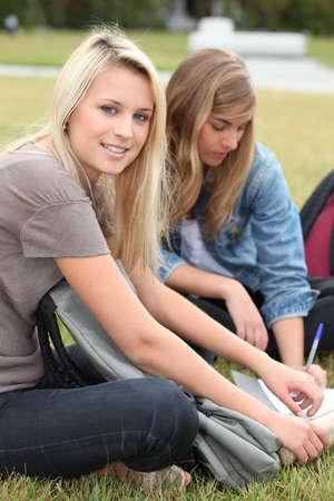 16 17: Teenagers working outside