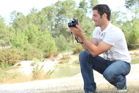 Man taking photo Stock Photo - 10855343