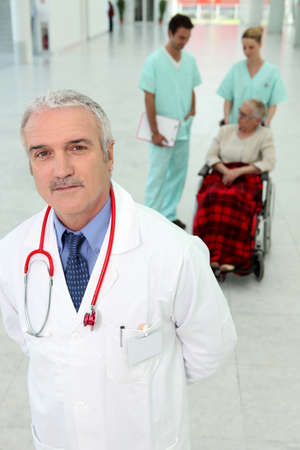 Hospital patient in wheelchair Stock Photo - 10855301