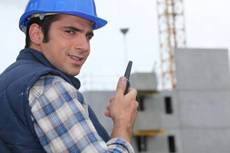 property management: Construction site foreman