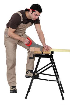 joiner: A carpenter at work.