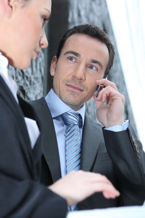 woman attracted by her boss photo