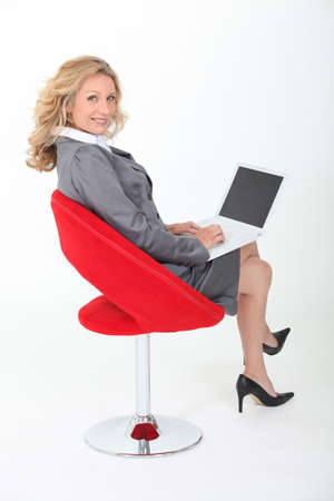 Elegant businesswoman posing photo