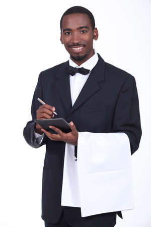 Smart waiter taking order photo