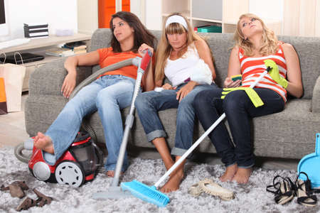 Fed up of housework Stock Photo - 11050463