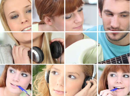 Collage of musical activities photo