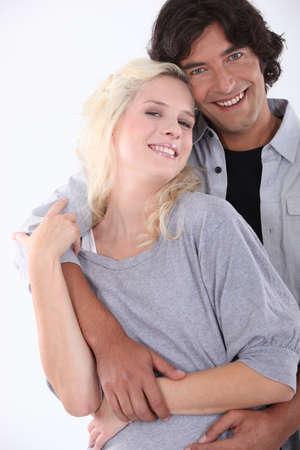 fair skinned: Portrait of a loving couple