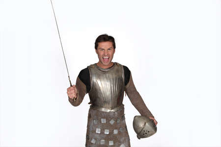 Man dressed as a knight Stock Photo - 11049389