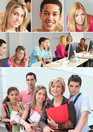 Young adults in professional training photo