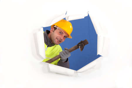 pickaxe: Builder with a pickaxe