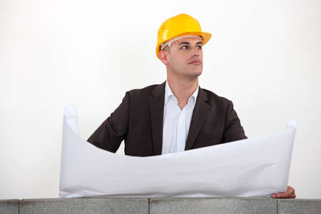 businessman on a construction site Stock Photo - 11050804