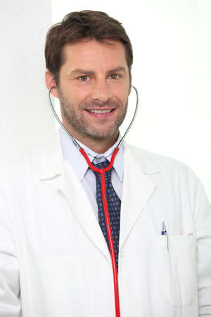 young male doctor: Doctor with a stethoscope