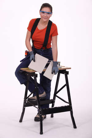 Woman laborer photo