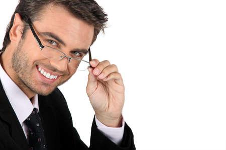 Businessman in glasses Stock Photo - 11717705