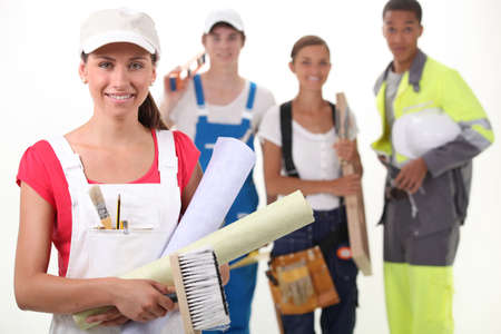 Four people from different trades Stock Photo - 11717752
