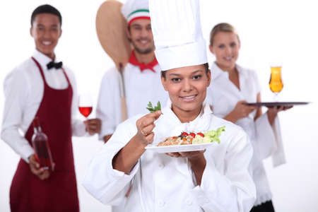 staff of food and catering sector photo