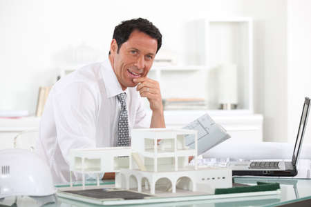 50 55 years: Estate agent Stock Photo