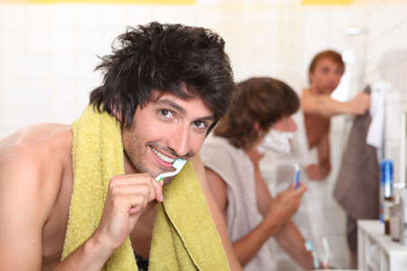 Men in the bathroom photo
