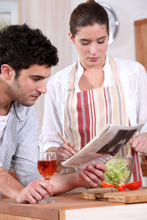 A couple preparing their meal. Stock Photo - 11717812