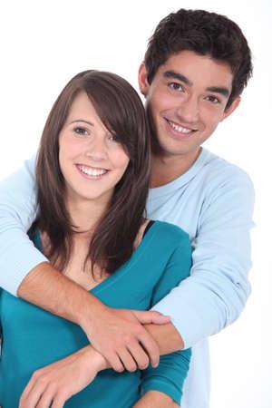 Teenage couple stood in studio Stock Photo - 11088225