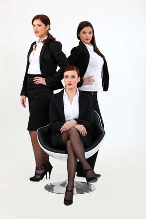 preppy: trio of proud businesswomen