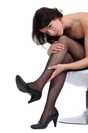 sexy underwear: Woman wearing tights and high-heels