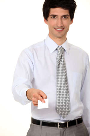 businessman giving his card Stock Photo - 11717645