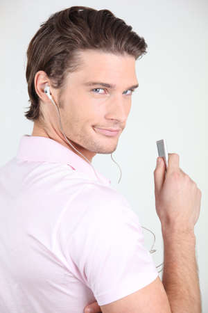 audacious: Man with mp3 player