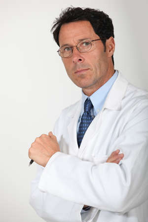 cancer research: portrait of a physician Stock Photo