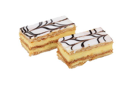 napoleon dessert: Two mille-feuille pastries