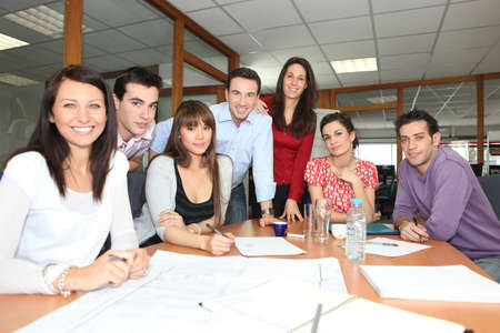 Office workers in a meeting Stock Photo - 11132416