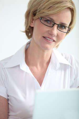 Secretary on laptop photo