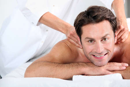 Man having massage photo