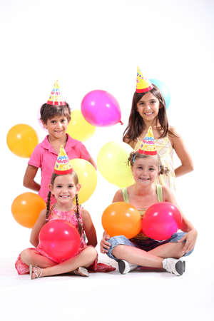 children party: Kids at a birthday party