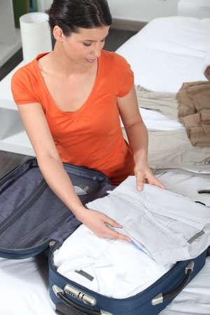 femme valise: Emballage Femme report sur le cas