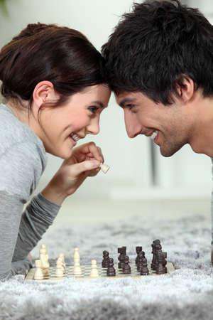 A chess dual photo