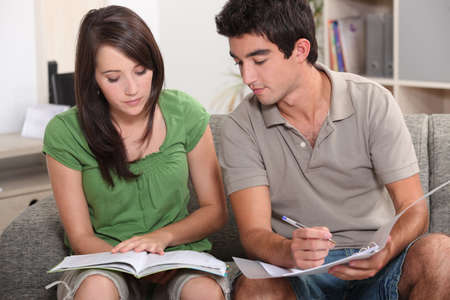 16 17: Teenagers revising