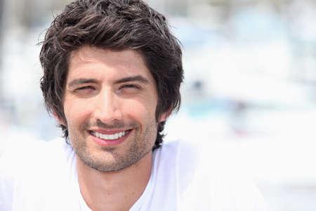 Handsome smiling man photo