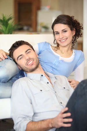 Cheerful young couple photo