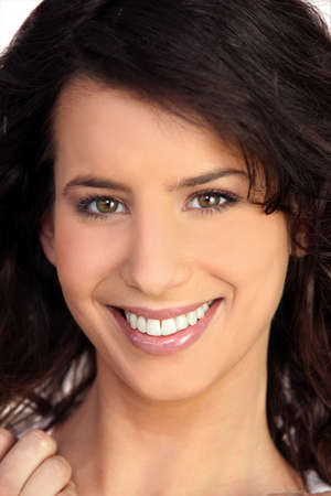 dentition: portrait of smiling woman Stock Photo